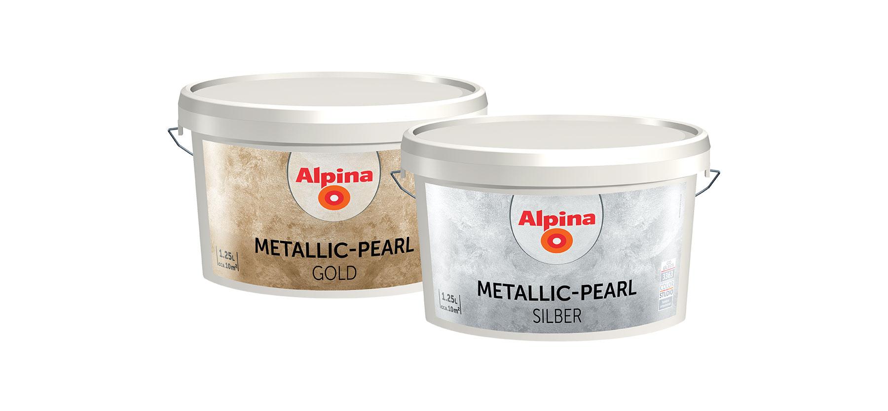 Alpina Metallic-Pearl GOLD si SILBER